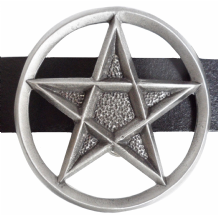 Pentagram Pewter Belt Buckle - BB835